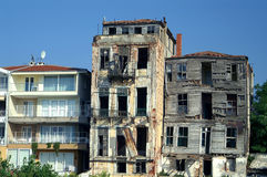 Abandoned buildings. Two abandoned houses, Prince Island, Turkey Royalty Free Stock Photos