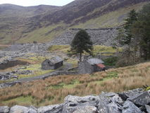 Abandoned Buildings Cwmorthin Tanygrisiau Stock Photo