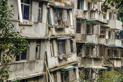 Abandoned buildings after earthquake catastrophe Royalty Free Stock Images