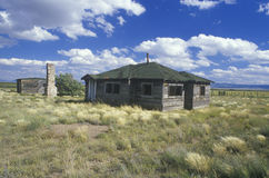 Abandoned buildings in ghost town in NM Stock Image
