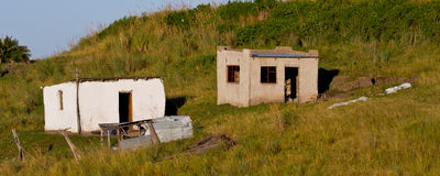 Abandoned buildings on hillside Royalty Free Stock Photography