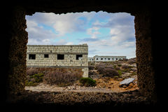 Abandoned Buildings of a Military Base Royalty Free Stock Image
