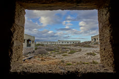 Abandoned Buildings of a Military Base Stock Photo