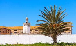 Abandoned buildings with mosque, Tangier Royalty Free Stock Image