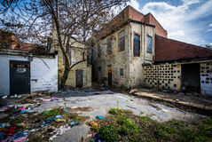 Abandoned buildings near Old Town Mall, in Baltimore, Maryland. stock photography