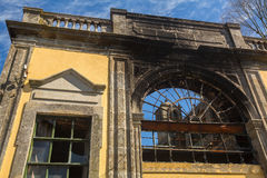 Abandoned buildings in the old part of Porto. Royalty Free Stock Photography