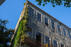 Abandoned buildings in the old part of Porto Stock Photography