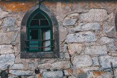 Abandoned buildings in old Porto downtown, Portugal. Royalty Free Stock Photos