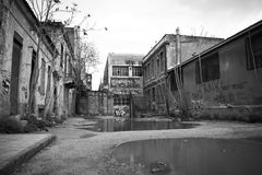 Abandoned buildings Royalty Free Stock Photo