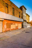 Abandoned buildings at Old Town Mall, in Baltimore, Maryland. Stock Photography