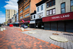 Abandoned buildings at Old Town Mall, in Baltimore, Maryland. royalty free stock images