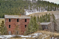 Abandoned Buildings in a Rural Area Stock Photo