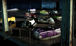 Abandoned bumper cars. Bumper cars abandoned in their fun place Royalty Free Stock Photography