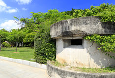 Abandoned bunker. In gulangyu island, xiamen city, china. ancient military facilities become tourism resources. in chinese idioms, turn swords into plowshares Royalty Free Stock Image