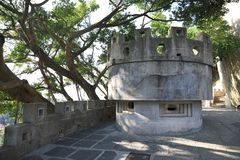 Bunker on the island of xiamen gulangyu island royalty free stock images
