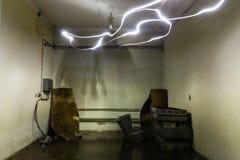 Abandoned bunker inventory. Ex soviet cold war shelter Stock Images