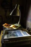 Abandoned bunker inventory. Ex soviet cold war shelter Stock Photos