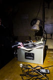 Abandoned bunker inventory. Ex soviet cold war shelter Royalty Free Stock Photo