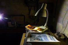 Abandoned bunker inventory. Ex soviet cold war shelter Royalty Free Stock Image
