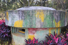 Abandoned bunker in zhonglun park, amoy Royalty Free Stock Image