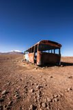 Abandoned Bus. An abandoned bus on the border between Bolivia and Chile Stock Images