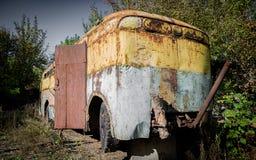 Abandoned bus Stock Image