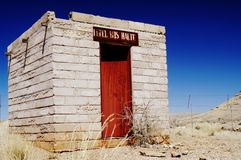 Abandoned bus stop in Namib desert, Namibia Royalty Free Stock Image