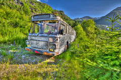 Abandoned Bus stock photography