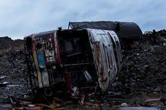 Abandoned bussar Fotografering för Bildbyråer