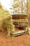 Abandoned bussar Royaltyfria Bilder