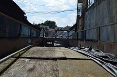 Abandoned bussar Arkivfoto