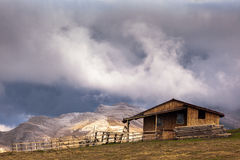 Abandoned cabin in the Bucegi Mountains, Romania Royalty Free Stock Photo