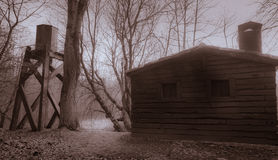 A abandoned cabin Royalty Free Stock Photo