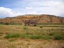 Abandoned cabin in rural Utah desert Royalty Free Stock Images