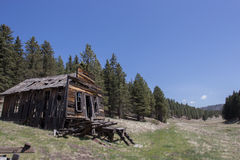 Abandoned Cabin Valles Caldera. An abandoned cabin found in Valles Caldera National Preserve, New Mexico Stock Photo