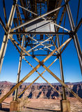 Abandoned cable aerial tramway of mine at Guano Point - Grand Canyon West Rim, Arizona, USA Royalty Free Stock Photography