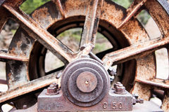Abandoned Cable Drum. Old cable spool drum abandoned in the Colorado Mountains Royalty Free Stock Images