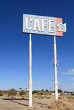 Abandoned Cafe sign Royalty Free Stock Photography