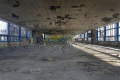 Abandoned cafeteria Royalty Free Stock Photography