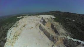 Abandoned calcium carbonate quarry in Dalmatian stock video