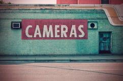 Abandoned Camera Store Stock Image