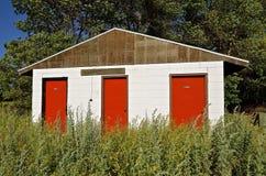 Abandoned camping bathroom facilities Royalty Free Stock Photography
