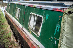 Abandoned Canal Boat Stock Image