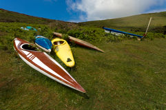 Abandoned canoes Royalty Free Stock Images