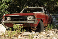 Abandoned car. An old abandoned destroyed car stock images