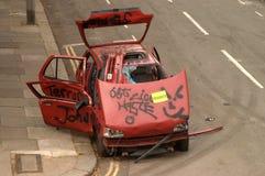 Abandoned Car. Brixton, South London Royalty Free Stock Image