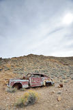 Abandoned car is desert Royalty Free Stock Image