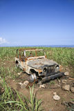 Abandoned Car in Field Royalty Free Stock Photography