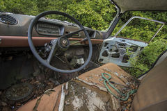Abandoned car in forrest Royalty Free Stock Photos