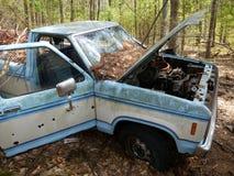Abandoned car: going nowhere Stock Photos